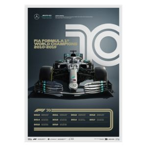 Cartel Fórmula 1 Décadas - Mercedes de los 2010