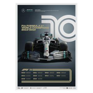 Poster Formula 1 Decades - 2010s Mercedes