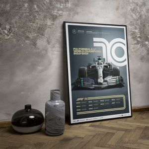 Affiche Formule 1 Décennies - Mercedes années 2010