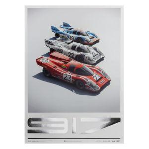 Affiche Porsche 917 - Salzburg & Martini & Gulf - 24h Le Mans