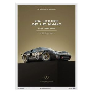 Poster Ford GT40 - Black - 24h Le Mans - 1966