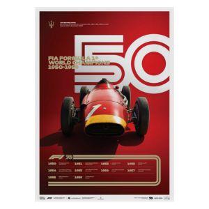 Affiche Formule 1 Décennies - Maserati années 50