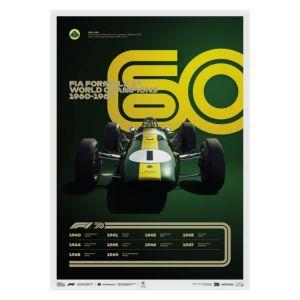 Cartel Fórmula 1 Décadas - Team Lotus de los 60