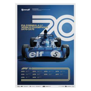 Cartel Fórmula 1 Décadas - Tyrrell de los 70