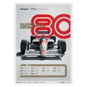 Cartel Fórmula 1 Décadas - McLaren de los 80