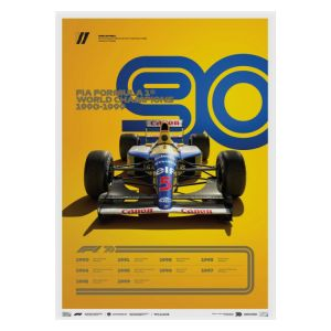 Cartel Fórmula 1 Décadas - Williams de los 90