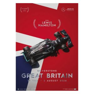 Poster Mercedes-AMG Petronas F1 Team - Great Britain GP 2020 - Lewis Hamilton