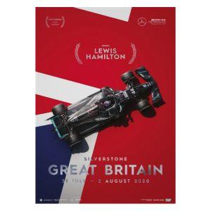 Poster Mercedes-AMG Petronas F1 Team - Großbritannien GP 2020 - Lewis Hamilton