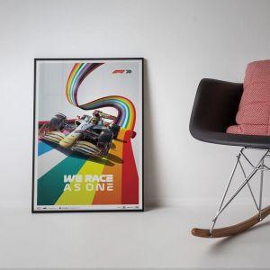 Cartel Fórmula 1 - We Race As One - Combatir la Desigualdad