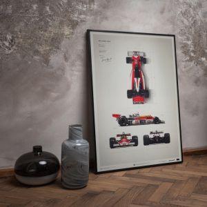 Poster James Hunt - McLaren M23 - Cianografia - Giappone GP - 1976