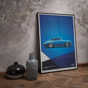 Cartel Porsche 911 RS - Azul