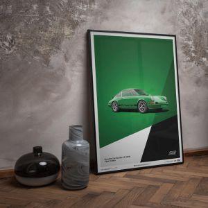 Poster Porsche 911 RS - Grün