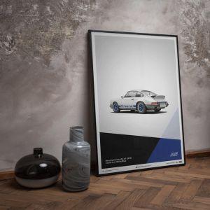 Poster Porsche 911 RS - White