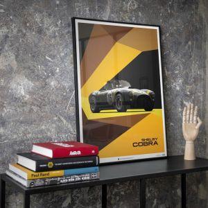 Poster Shelby-Ford AC Cobra Mk II - Schwarz - 1962