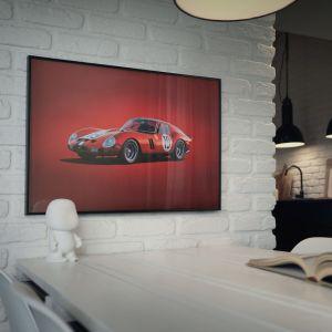 Affiche Ferrari 250 GTO - Rouge - 24h Le Mans - 1962 - Colors of Speed