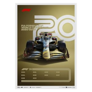 Cartel Fórmula 1 Décadas - 2020 El futuro está ante nosotros