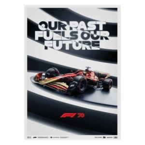 Poster Formula 1 - Our past fuels our future - 70th anniversary