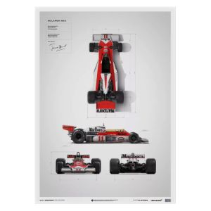 Poster James Hunt - McLaren M23 - Blaupause - Japan GP - 1976