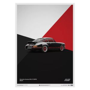 Cartel Porsche 911 RS - Negro