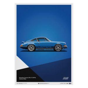 Poster Porsche 911 RS - Blau