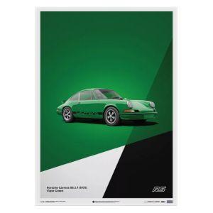 Cartel Porsche 911 RS - Verde