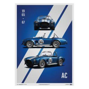 Poster Shelby-Ford AC Cobra Mk III - Blu - 1965