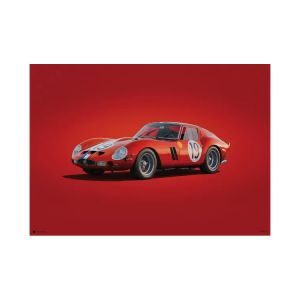 Poster Ferrari 250 GTO - Red - 24h Le Mans - 1962 - Colors of Speed