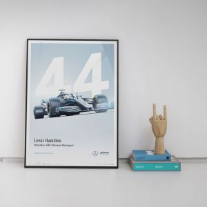 Poster Mercedes-AMG Petronas Motorsport Lewis Hamilton 2019 - Limited Edition