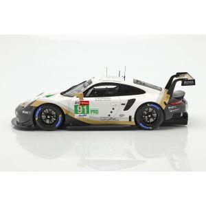 Porsche 911 RSR GTE #91 2nd LMGTE Pro 24h Le Mans 2019 Porsche GT Team 1/18