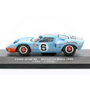 Ford GT40 Gulf #6 ganador 24h LeMans 1969 Ickx, Oliver 1/43