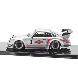 Porsche 911 (930) RWB #8 Rauh-Welt Martini silver 1/43