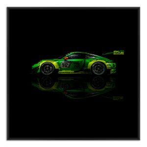 Manthey-Racing Art Print - Porsche 911 GT3 R Grello 24h Voiture Gagnante 2018 Side