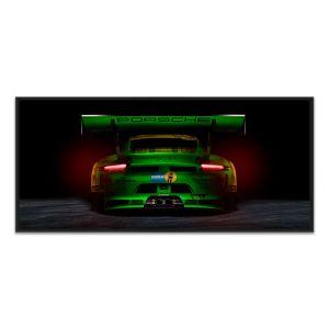 Manthey-Racing Art Print - Porsche 911 GT3 R Grello 24h Siegerfahrzeug 2018 Back
