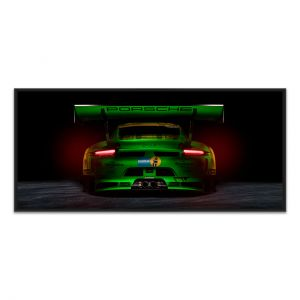 Manthey-Racing Art Print - Porsche 911 GT3 R Grello 24h Voiture Gagnante 2018 Back