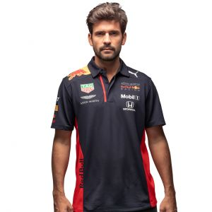 Red Bull Racing Team Sponsor Polo Shirt navy blue