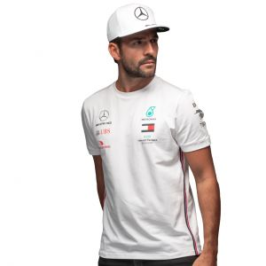 Mercedes-AMG Petronas Team Sponsor Maglietta bianca