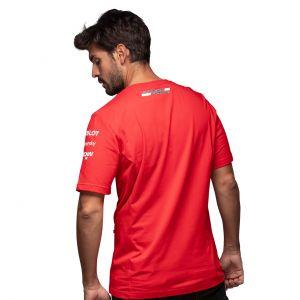Scuderia Ferrari Leclerc Maglietta da uomo Rossa