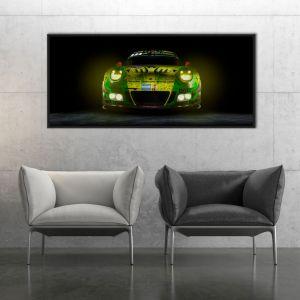 Manthey-Racing Art Print - Porsche 911 GT3 R Grello 24h Coche Ganador 2018 Front