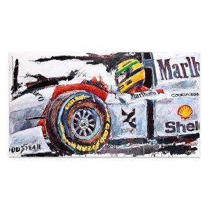 Obra de arte Ayrton Senna McLaren Cockpit #0002