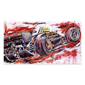 Obra de arte Ayrton Senna Lotus #0003