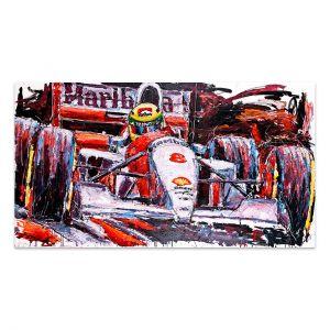 Kunstwerk Ayrton Senna McLaren #0004
