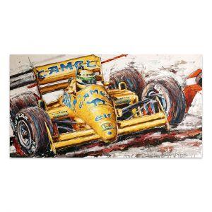 Obra de arte Ayrton Senna Lotus #0001