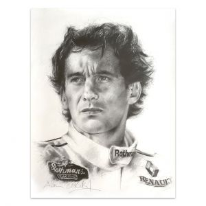 Kunstwerk Ayrton Senna Porträt #0005