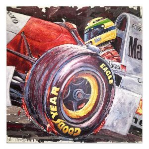 Œuvre d'art Ayrton Senna McLaren #0006