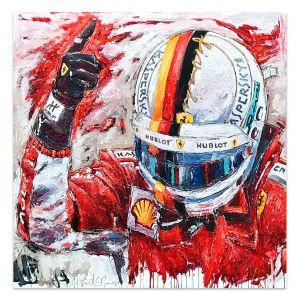 Kunstwerk Sebastian Vettel Helm #0007