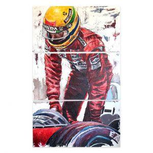 Œuvre d'art Ayrton Senna Sortie du véhicule #0009