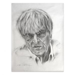 Kunstwerk Bernie Ecclestone Porträt #0010