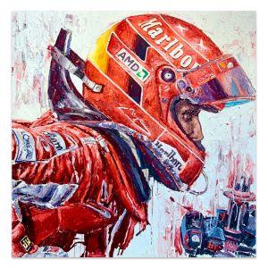 Obra de arte Michael Schumacher Casco #0012