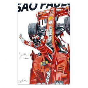 Kunstwerk Kimi Räikkönen Weltmeister 2007 #0021