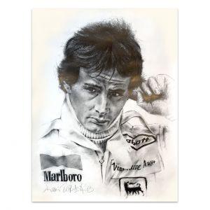 Œuvre d'art Gilles Villeneuve Portrait #0022